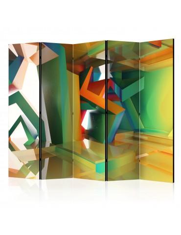 Paravent 5 volets - Colourful Space II [Room Dividers] A1-PARAVENT771