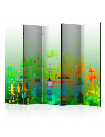 Paravent 5 volets - Abstract City II [Room Dividers] A1-PARAVENT765