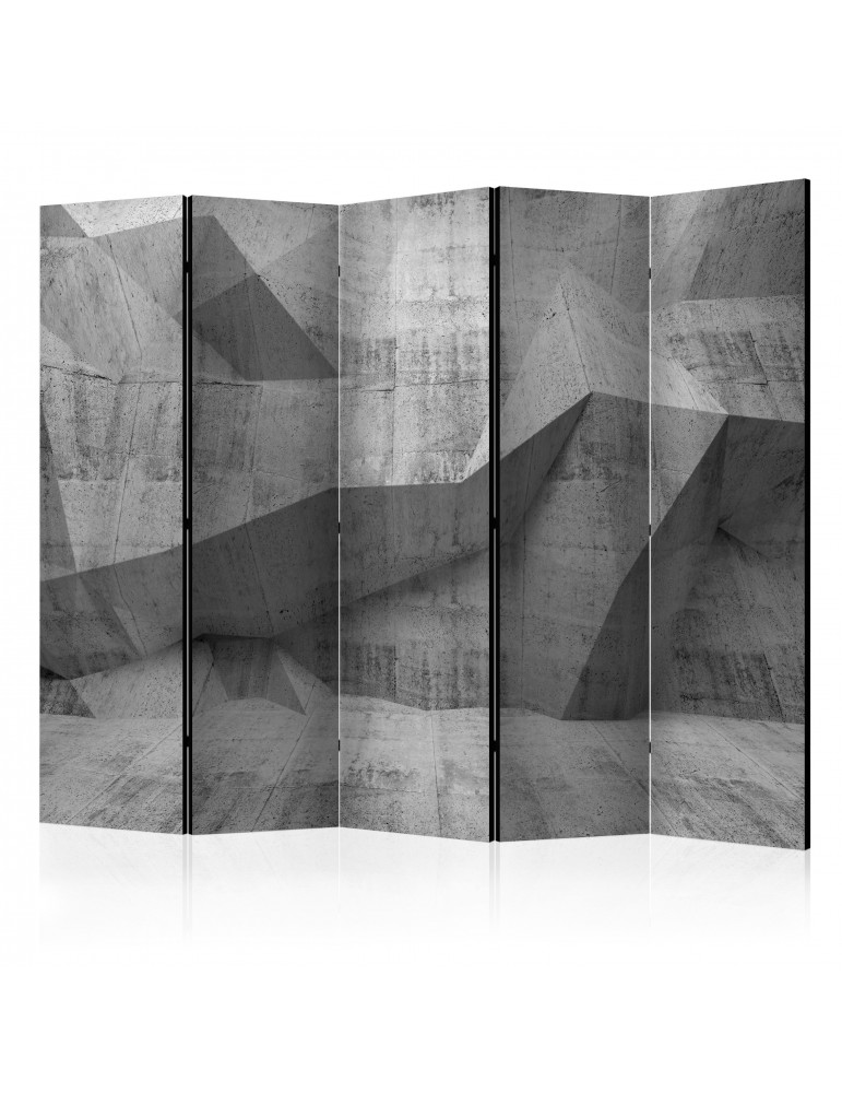 Paravent 5 volets - Concrete Geometry II [Room Dividers] A1-PARAVENT779