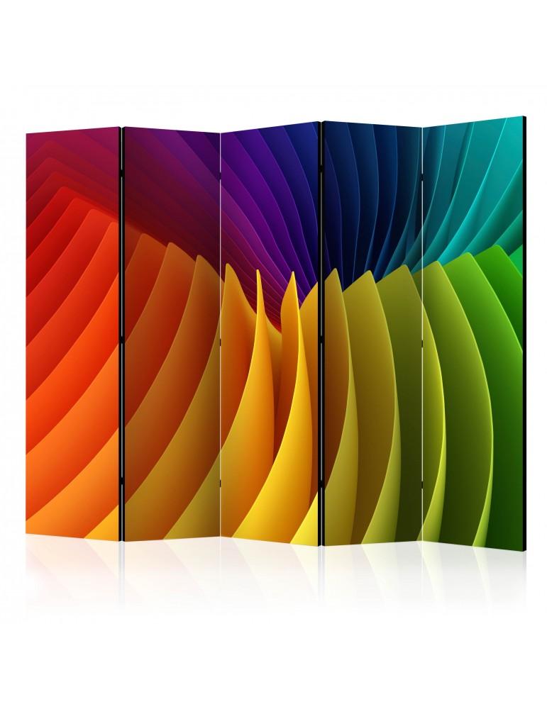 Paravent 5 volets - Rainbow Wave II [Room Dividers] A1-PARAVENT733