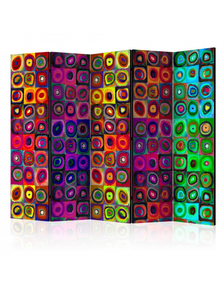 Paravent 5 volets - Colorful Abstract Art II [Room Dividers] A1-PARAVENT737