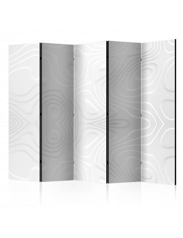 Paravent 5 volets - Room divider - White waves II A1-PARAVENT920