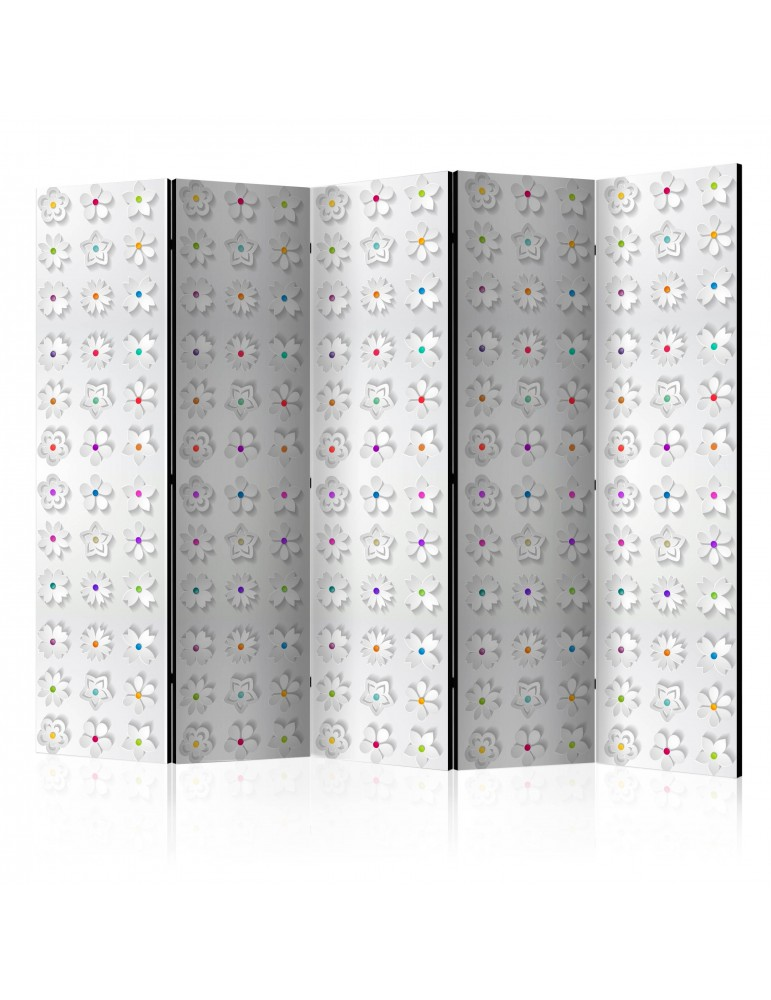 Paravent 5 volets - Room divider – Colorful flowers II A1-PARAVENT934