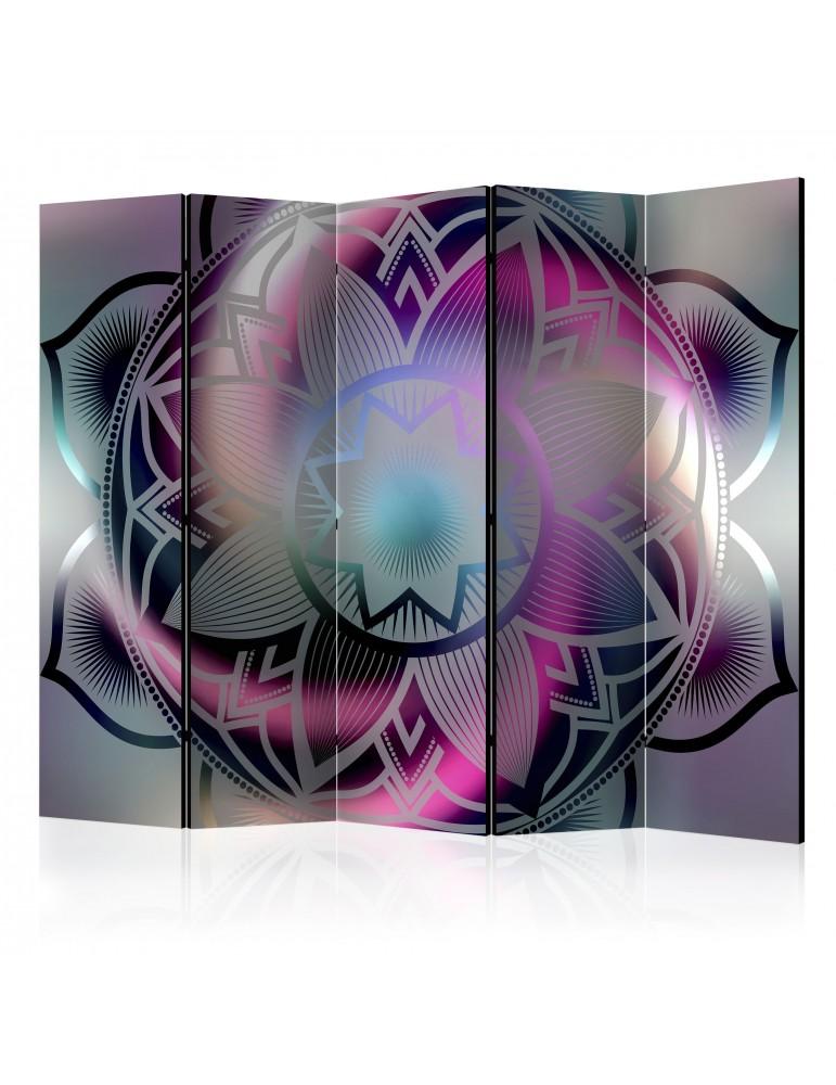 Paravent 5 volets - Flowery Mandala II [Room Dividers] A1-PARAVENT747