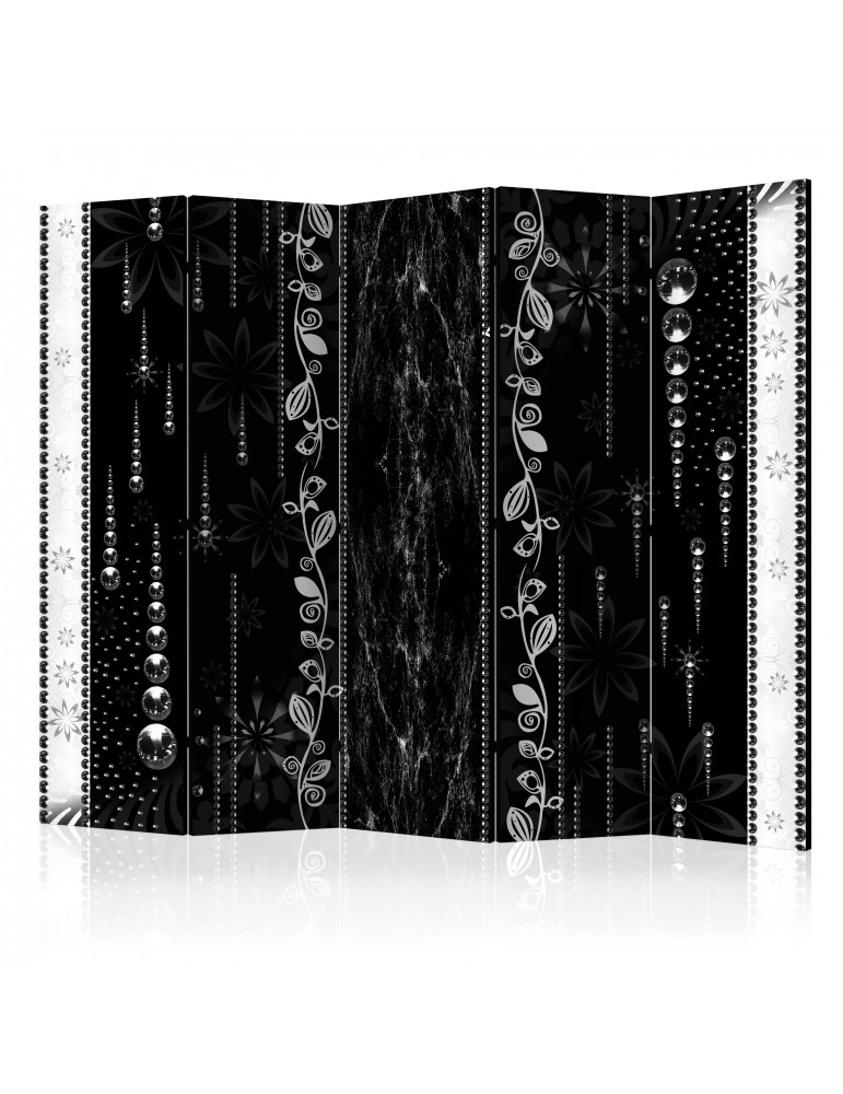 Paravent 5 volets - Black Elegance II [Room Dividers] A1-PARAVENT755