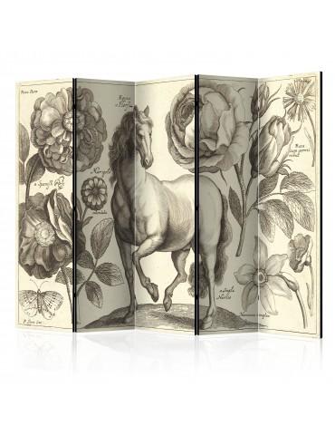 Paravent 5 volets - Horse II [Room Dividers] A1-PARAVENT751