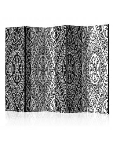 Paravent 5 volets - Ethnic Monochrome II [Room Dividers] A1-PARAVENT743
