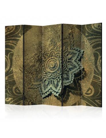 Paravent 5 volets - Golden Treasure II [Room Dividers] A1-PARAVENT86