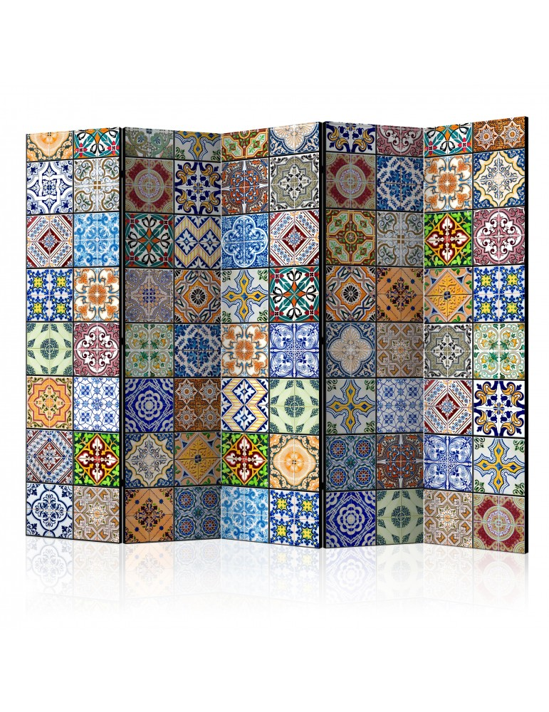Paravent 5 volets - Colorful Mosaic II [Room Dividers] A1-PARAVENT96