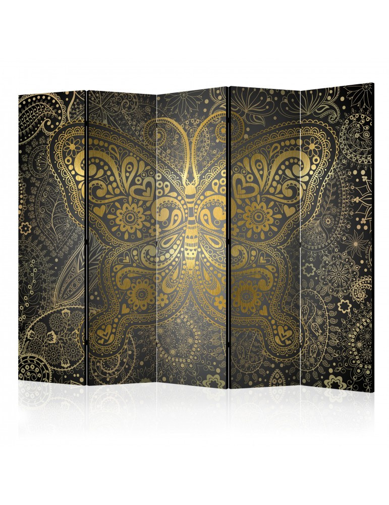 Paravent 5 volets - Golden Butterfly II [Room Dividers] A1-PARAVENT94