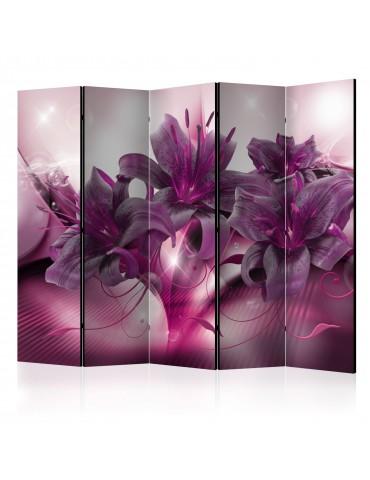 Paravent 5 volets - The Purple Flame II [Room Dividers] A1-PARAVENT189