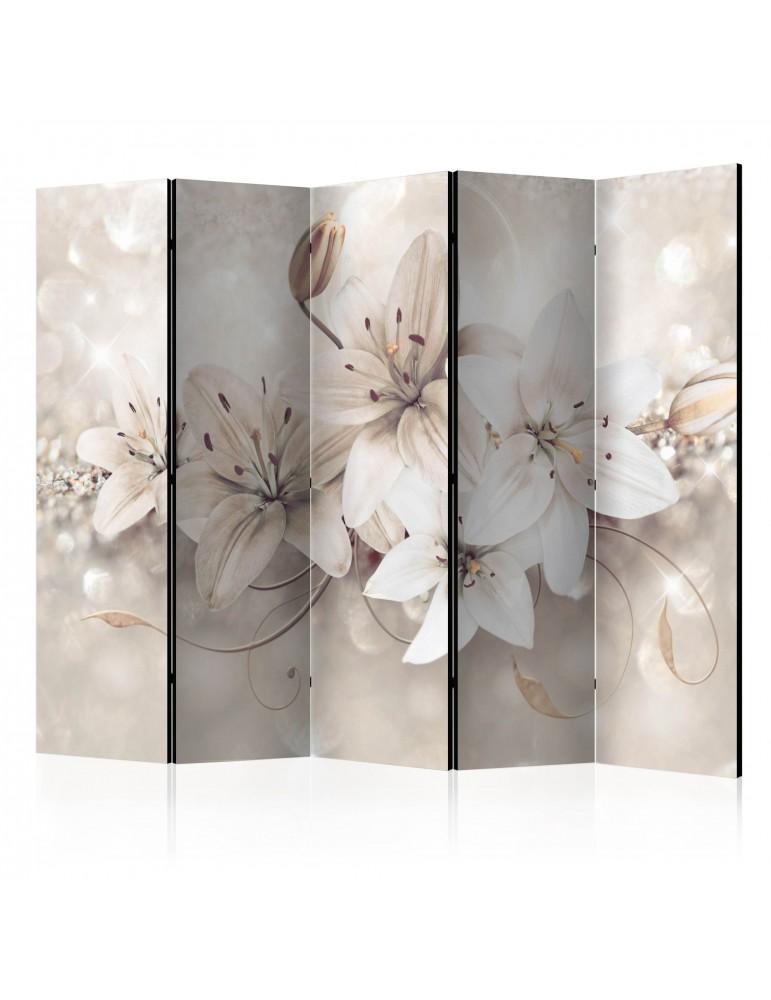 Paravent 5 volets - Diamond Lilies II [Room Dividers] A1-PARAVENT175