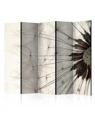 Paravent 5 volets - White Dandelion II [Room Dividers] A1-PARAVENT131