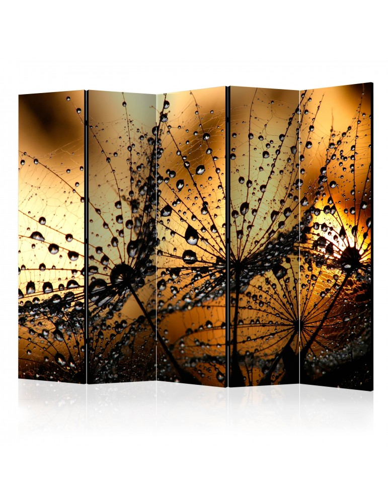 Paravent 5 volets - Dandelions in the Rain II [Room Dividers] A1-PARAVENT139