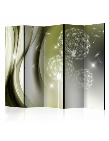 Paravent 5 volets - Green Gentleness II [Room Dividers] A1-PARAVENT149