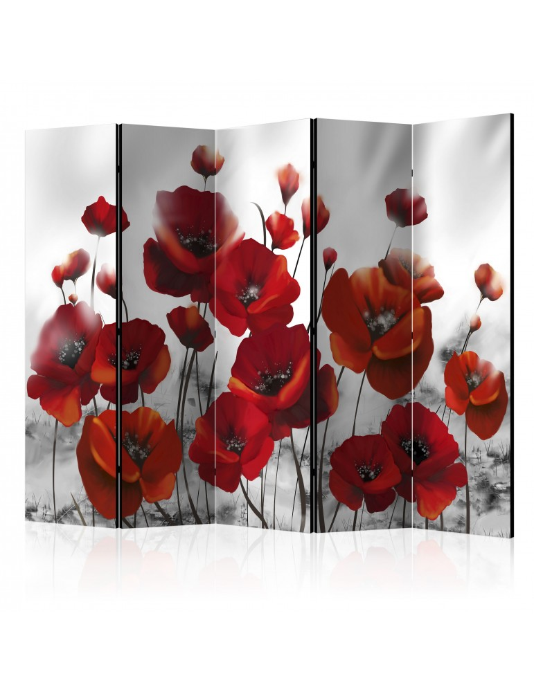 Paravent 5 volets - Poppies in the Moonlight II [Room Dividers] A1-PARAVENT462