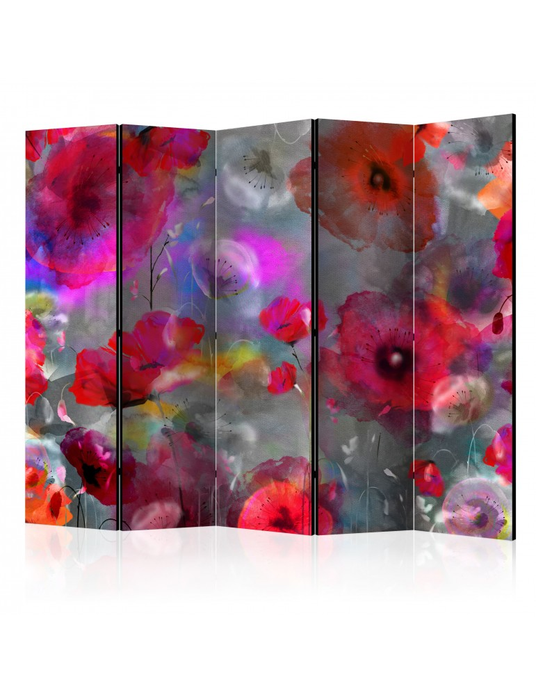 Paravent 5 volets - Painted Poppies II [Room Dividers] A1-PARAVENT460