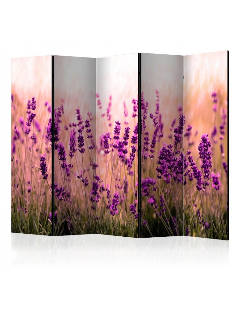 Paravent 5 volets - Lavender in the Rain II [Room Dividers] A1-PARAVENT191