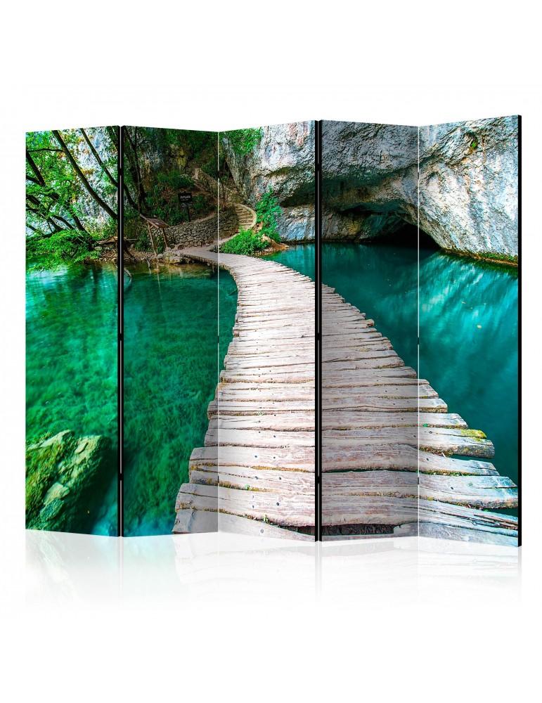 Paravent 5 volets - Emerald Lake II [Room Dividers] A1-PARAVENT199