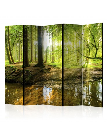Paravent 5 volets - Forest Lake II [Room Dividers] A1-PARAVENT205