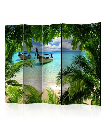Paravent 5 volets - Tropical Paradise II [Room Dividers] A1-PARAVENT209