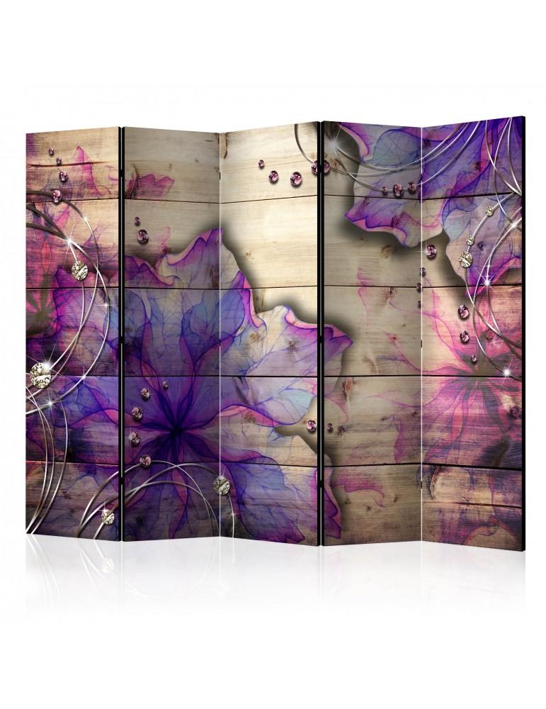 Paravent 5 volets - Purple Memory II [Room Dividers] A1-PARAVENT648