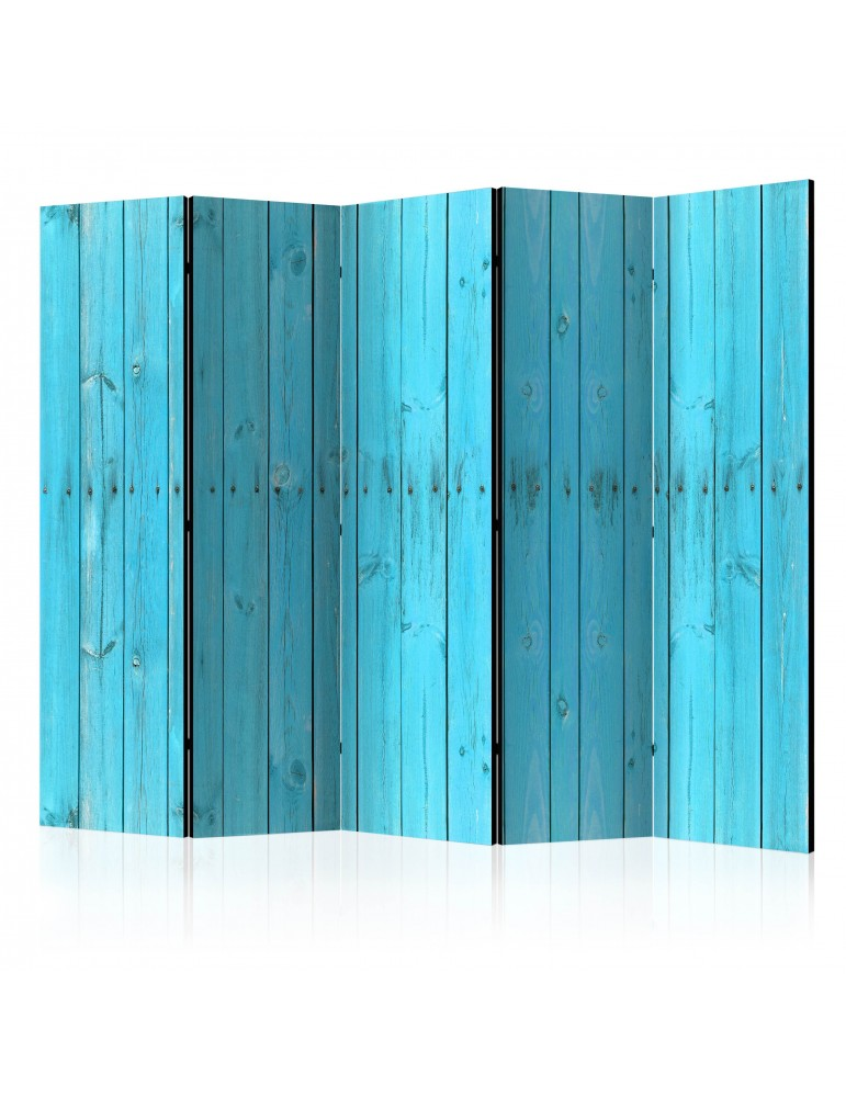 Paravent 5 volets - The Blue Boards II [Room Dividers] A1-PARAVENT642