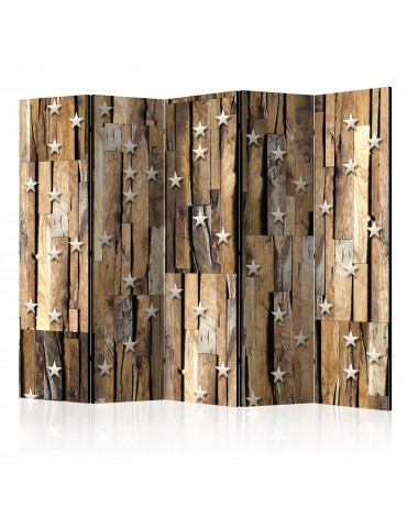 Paravent 5 volets - Wooden Constellation II [Room Dividers] A1-PARAVENT650