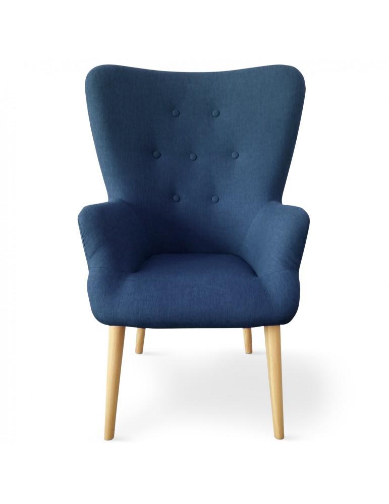 Fauteuil scandinave Barkley Tissu Bleu yf15341bleu