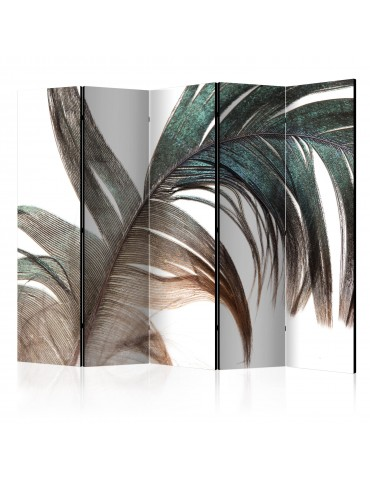 Paravent 5 volets - Beautiful Feather II [Room Dividers] A1-PARAVENT1012
