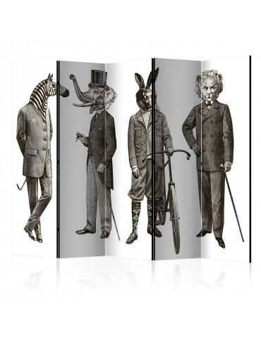 Paravent 5 volets - Elegant Zoo II [Room Dividers] A1-PARAVENT506