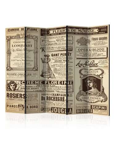 Paravent 5 volets - Vintage Magazines II [Room Dividers] A1-PARAVENT514