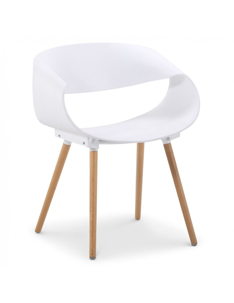 Lot de 2 chaises scandinaves design Zenata Blanc dc5069blanc