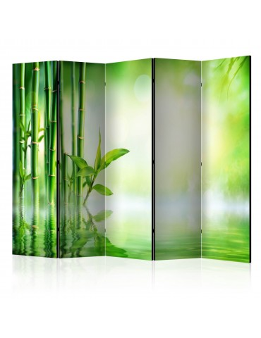 Paravent 5 volets - Green Bamboo II [Room Dividers] A1-PARAVENT944