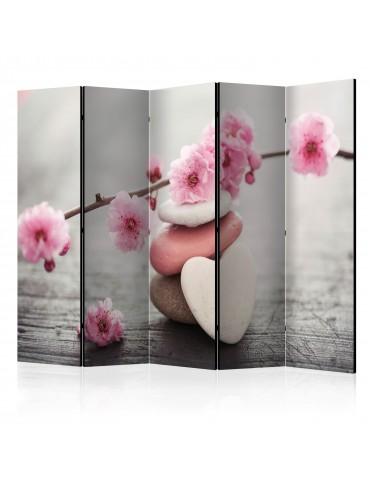 Paravent 5 volets - Zen Flowers II [Room Dividers] A1-PARAVENT952