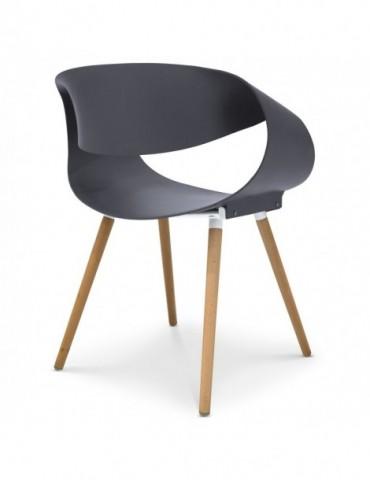 Lot de 2 chaises scandinaves design Zenata Gris dc5069gris