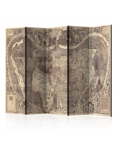 Paravent 5 volets - Room divider – Map ( Amerigo Vespucci ! ) A1-PARAVENT878