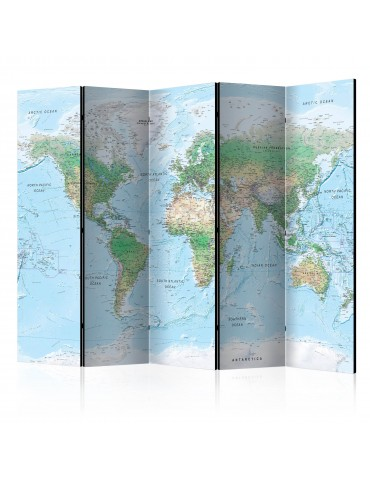 Paravent 5 volets - World Map [Room Dividers] A1-PARAVENT868