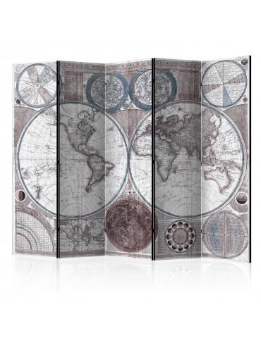 Paravent 5 volets - Terraqueous Globe [Room Dividers] A1-PARAVENT106