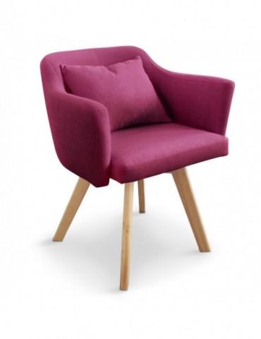 Chaise / Fauteuil scandinave Dantes Tissu Violet yf1529violet