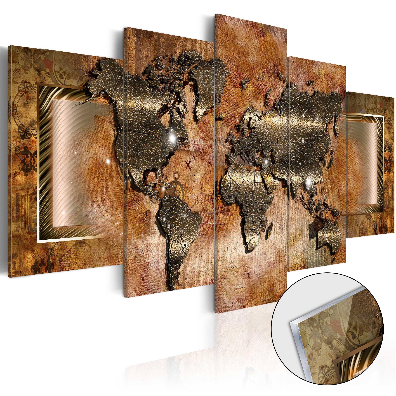 Tableau Sur Verre Acrylique Steel Map Glass A1 Acrylglasbild387