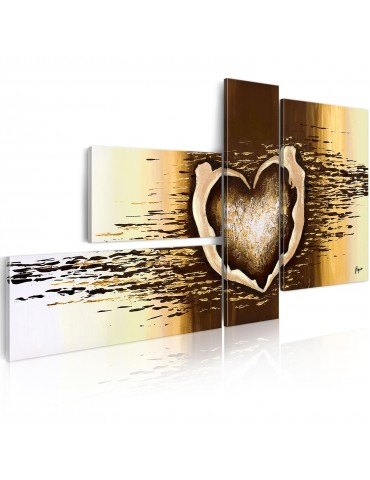 Tableau peint à la main - Vol d'amour A1-N2505-MK