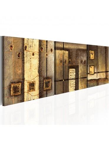 Tableau peint à la main - Composition dorée A1-N2492-MK