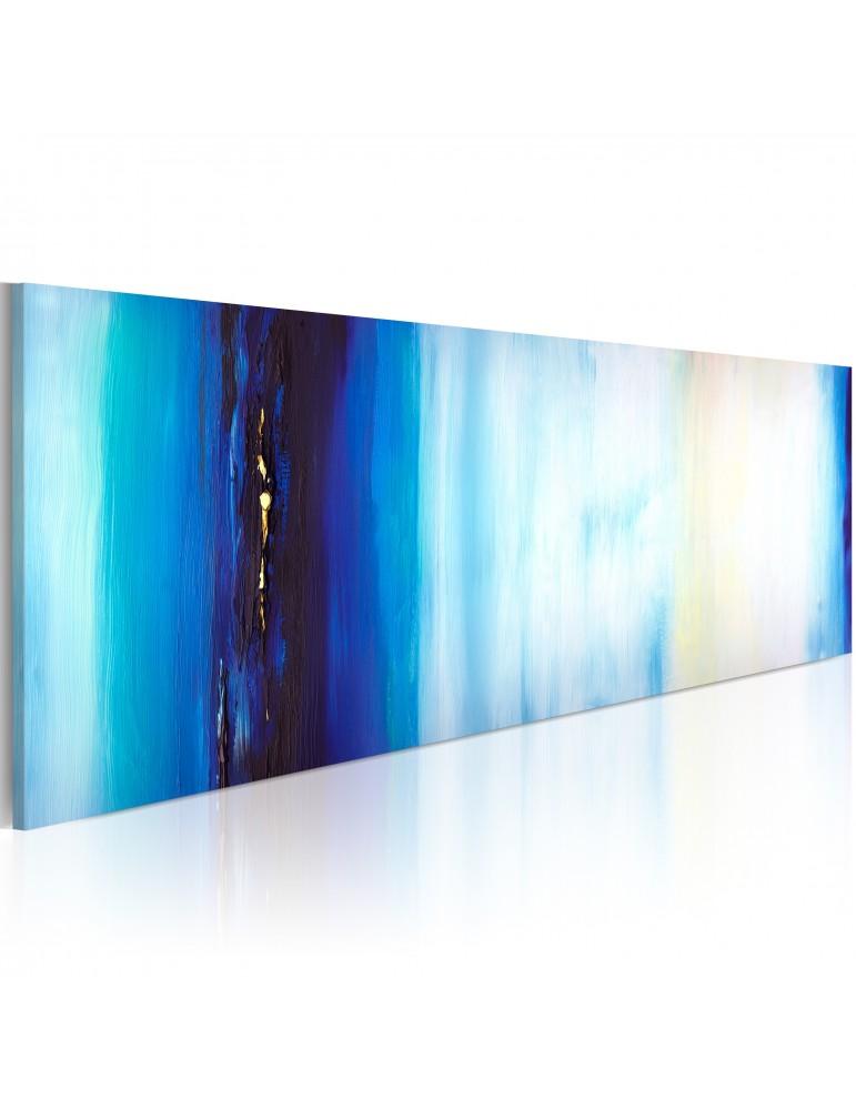Tableau peint à la main - Liquide bleu A1-N1617-MK