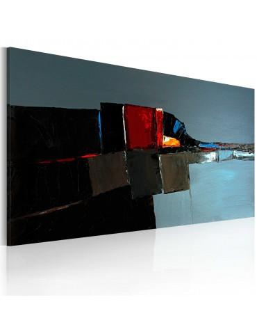 Tableau peint à la main - Eléphant dans l'abstraction A1-0101-12MK