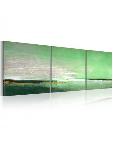 Tableau peint à la main - Côte de la couleur verte A1-0101-16MK