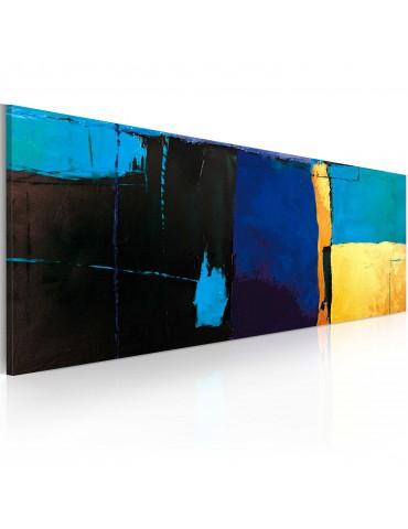 Tableau peint à la main - La fascination pour la couleur bleue A1-0101-19MK