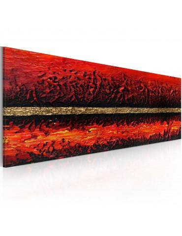 Tableau peint à la main - Eruption volcanique A1-0101-24MK