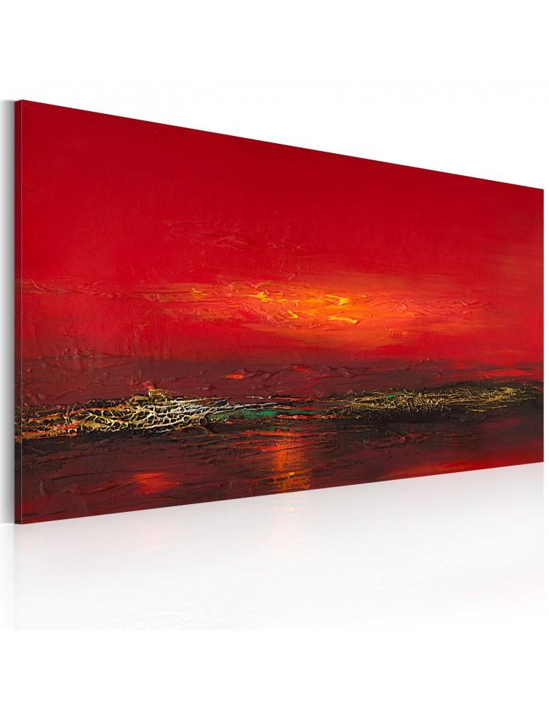 Tableau peint à la main - Coucher de soleil sur la mer Rouge A1-0101-32MK