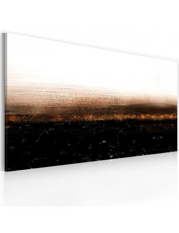 Tableau peint à la main - Black soil (Abstraction) A1-0101-35MK